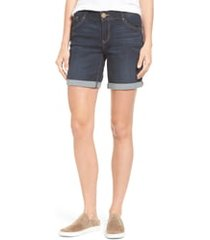 women's wit & wisdom ab-solution cuffed denim shorts, size 18 (similar to 14w) - blue (regular & petite)(nordstrom exclusive)