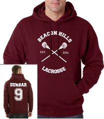 dunbar 9 liam dunbar cross beacon hills lacrosse maroon hoodie teen wolf