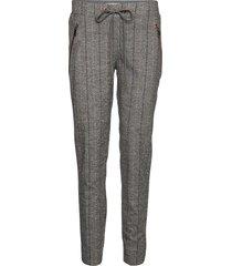 levon capri pant pantalon met rechte pijpen grijs mos mosh