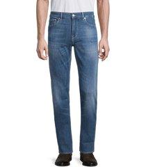 boss hugo boss men's maine slim-fit jeans - aqua - size 34 34