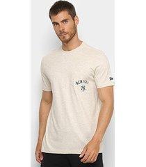 camiseta new era new york yankees premium pocket masculina