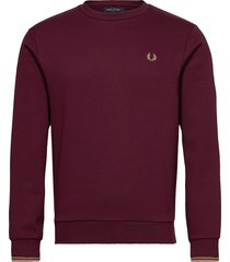 arch branded sweatsh. sweat-shirt tröja röd fred perry