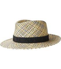maison michel andre up woven hat - neutrals
