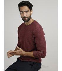 suéter masculino em tricô gola careca vinho
