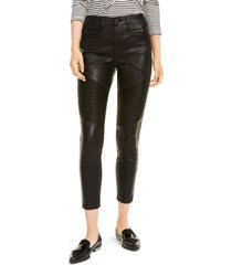 oat faux leather high-rise moto ankle pants
