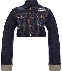 denim jacket with turn up cuffs