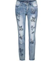 jeans skinny ricamati (blu) - rainbow