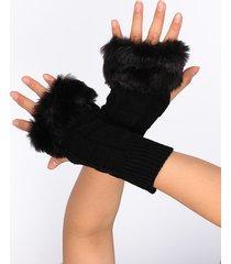 punto de piel sintética guantes