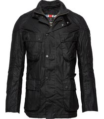 b.intl gauge wax jacket tunn jacka svart barbour