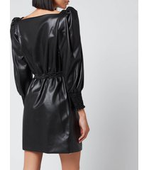 philosophy di lorenzo serafini women's faux leather dress - black - it 40/uk 8