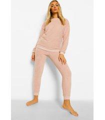 fleece teddy pyjama set, blush