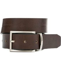 cinturón doble faz italia de cuero para hombre