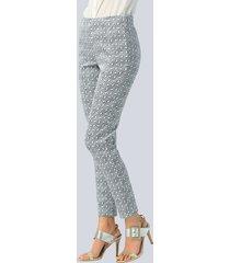 broek alba moda grijs::wit