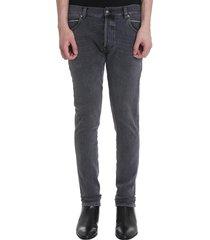 balmain jeans in black denim
