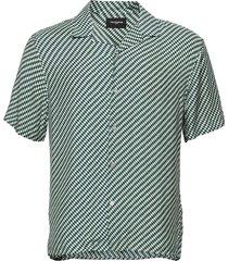 chemise overhemd met korte mouwen groen the kooples