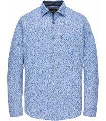 vanguard overhemd blauw met print vsi201201/5075
