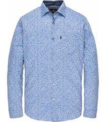 vanguard overhemd blauw met print vsi201201/5075 - maat m - maat m - maat m - maat m