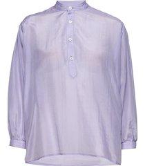 key shirt blouse lange mouwen paars hope