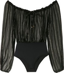 amir slama metallic bodysuit - black