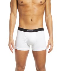 men's tom ford 2-pack cotton jersey boxer briefs, size x-small - white