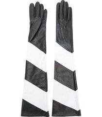 manokhi contrast long gloves - black