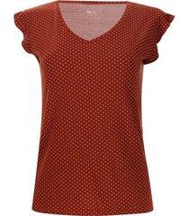 camiseta pepas y arandela color café, talla 12