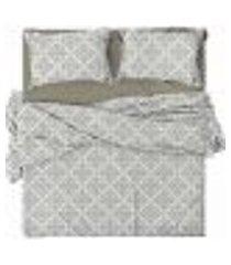 jogo de cama casal 150 fios cotton arabesque