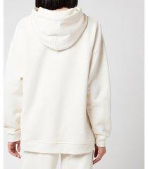 ganni women's software isoli hooded sweatshirt - egret - s/m