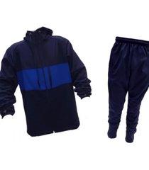 conjunto azul  mezgo frizado