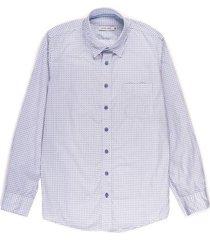 camisa casual manga larga estampada regular fit para hombre 93451