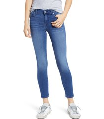 women's 7 for all mankind b(air) high waist ankle skinny jeans, size 30 - blue