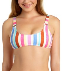 california waves juniors' ring bralette bikini top, available in d/dd, created for macy's women's swimsuit