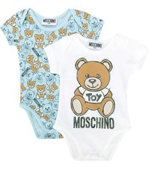 moschino romper with multicolor toy press