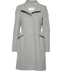 coat wool wollen jas lange jas grijs gerry weber edition