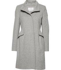coat wool wollen jas lange jas grijs gerry weber edition