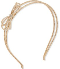 lonna & lilly gold-tone pave bow & chain-link split headband