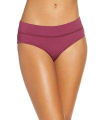 women's nike full bikini bottoms, size large - burgundy
