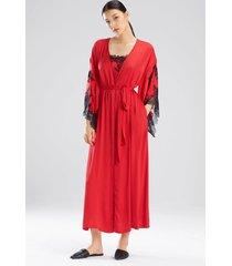 natori l'amour robe, women's, red, size m natori