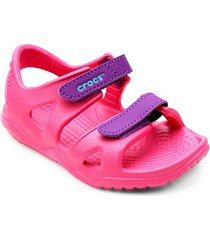 papete infantil crocs velcro swiftwater river