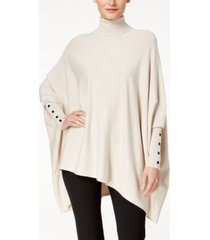 alfani petite turtleneck poncho sweater, created for macy's
