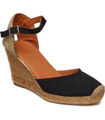 monty sandalette med klack espadrilles svart kurt geiger london