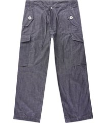 monitaly six pocket easy pants | chambray | m27304-chm