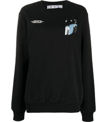 off-white cars print sweatshirt - black