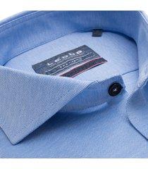 ledȗb heren overhemd blauw oxford tricot cutaway ml7 slim fit