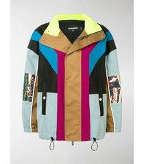 dsquared2 colour-block panelled jacket