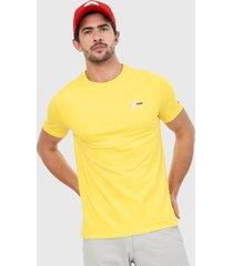 camiseta amarillo tommy jeans