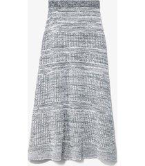 proenza schouler white label cotton silk pique knit skirt ecru/white l