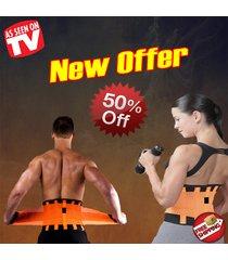 orange power xtreme back shapers slimming tecnomed power hot support belt gym