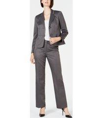 le suit pinstripe two-button pant suit