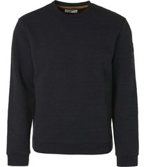no excess sweater crewneck fancy jacquard black